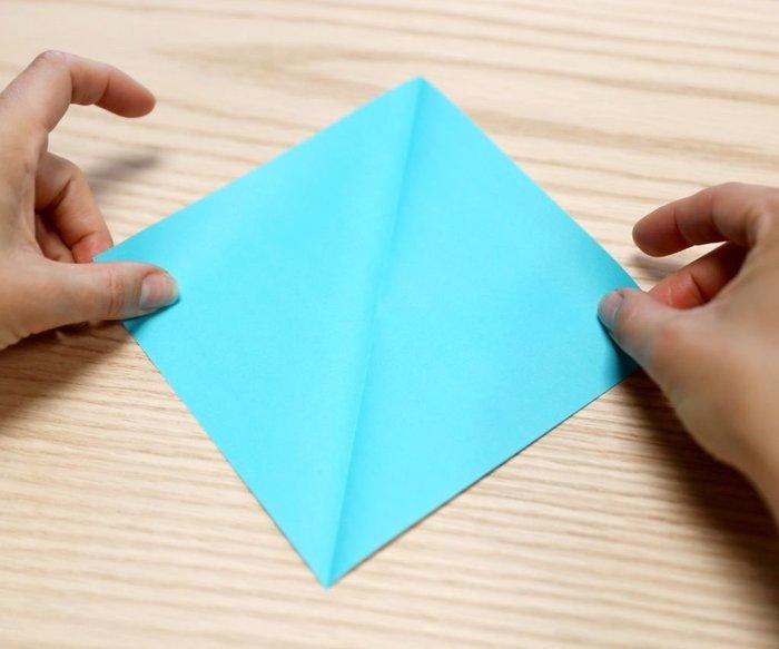 Cygne en origami- Plis en X