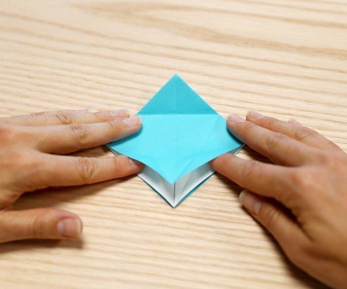 Cygne en origami- Pliage diamant