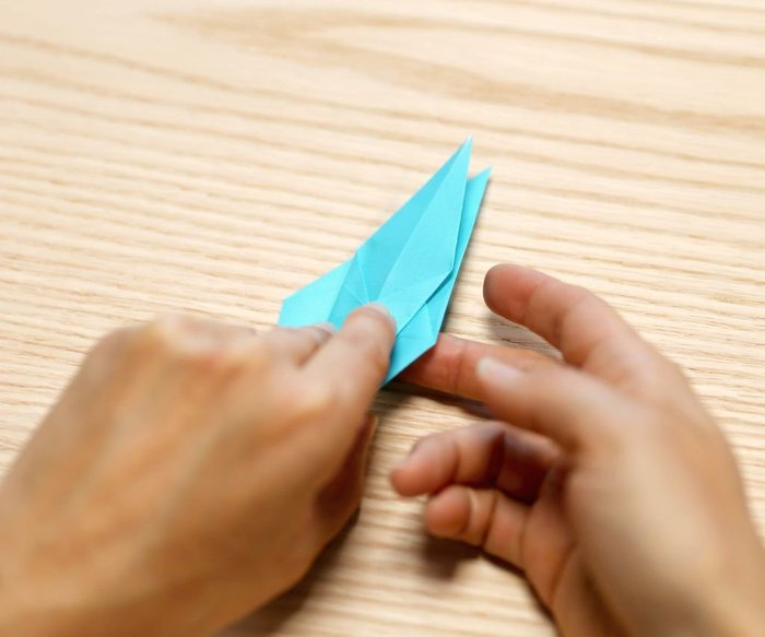 Cygne en origami- Pliage en Kite