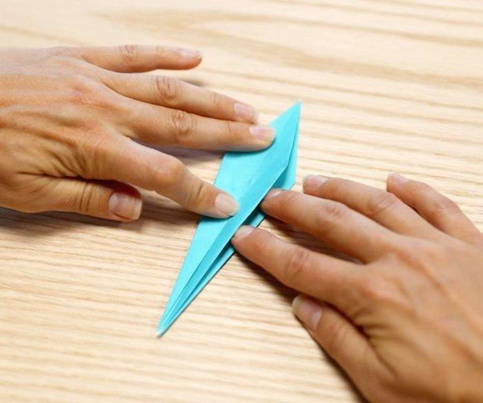 Cygne en origami- Pliage en tête de loup
