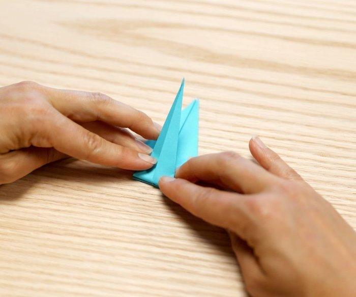 Cygne en origami- On retourne