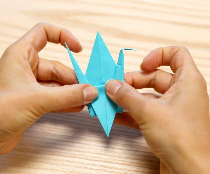 Cygne en origami- Pliage des ailes