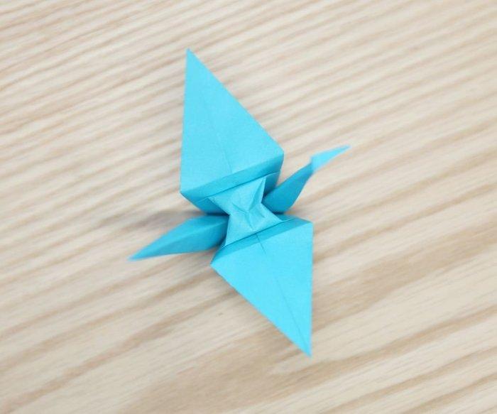 Cygne en origami- Finitions