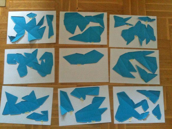 Sculptures en papier- Découpe