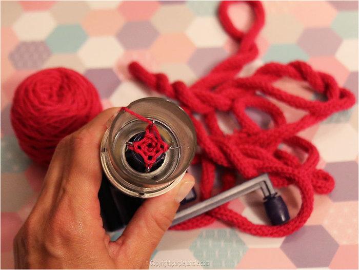 Prénom en tricotin-Fabriquer le tricotin
