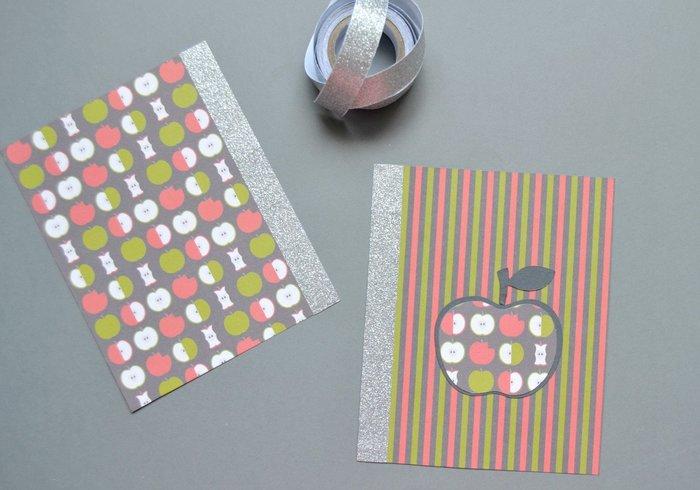 Carnet de rentrée et petits rangements-Réaliser un carnet : Découper et décorer
