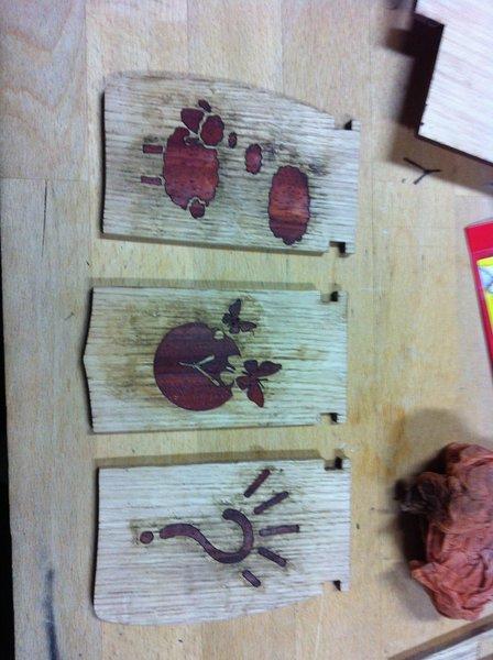 La petite boîte d'ENZO-Incrustation du bois de placage