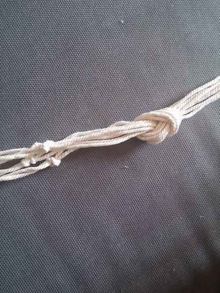 Suspension en ficelle-Tressage de la suspension