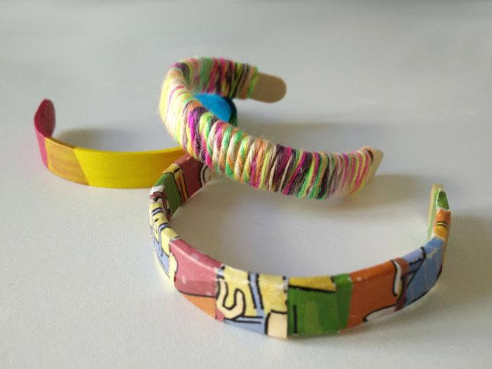 Bijoux avec des bâtons de glaces-Décorez les bracelets