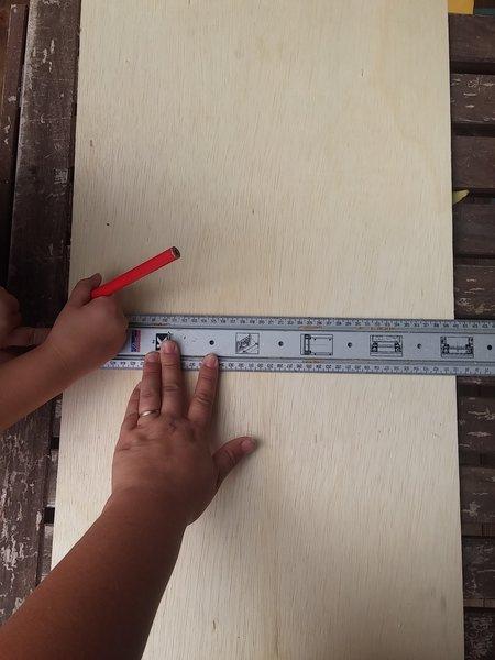 Un Tangram géant en bois-Reproduire le schéma du tangram sur votre support