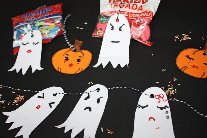 Fantômes kawaï pour halloween !!-Monter la guirlande
