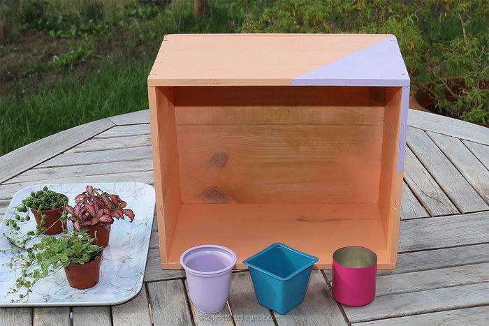 Un petit jardin suspendu-Peindre les pots