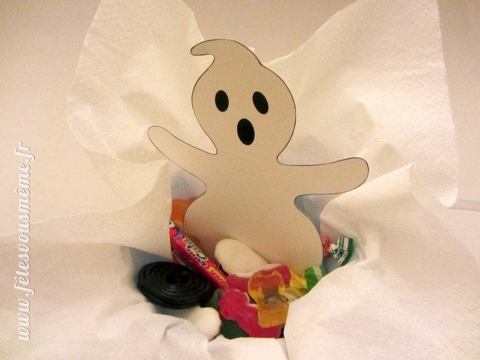Fantôme Bourse à bonbons-Etapes 4 et 5