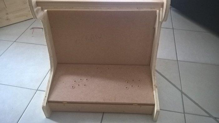 Bartop recalbox-La structure bois