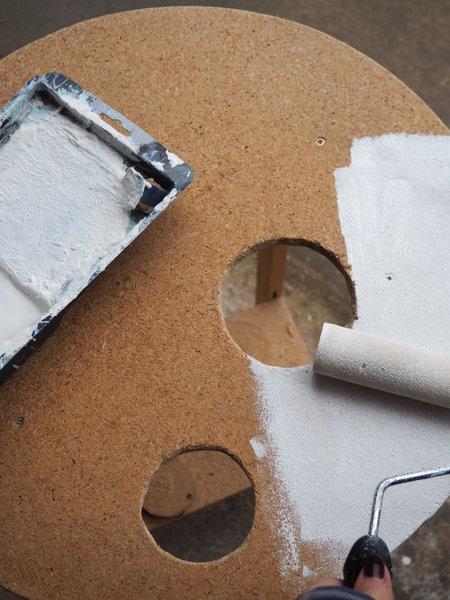 La table jungle fever-Etape 2 : la peinture