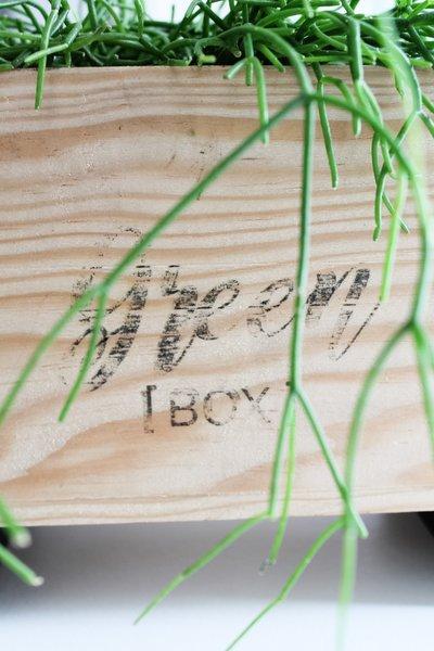 DIY GREEN BOX [ LETTRAGE VINTAGE ] -TA-DAAAM !