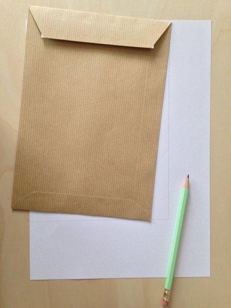 Customiser des enveloppes kraft-Les étapes