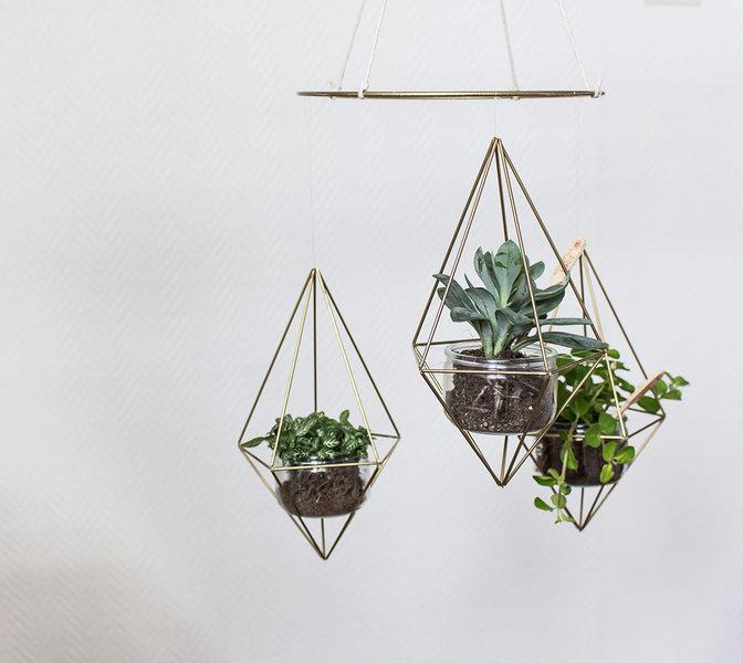 Mon mobile Himmeli -Ajoutez vos petites plantes et admirez !