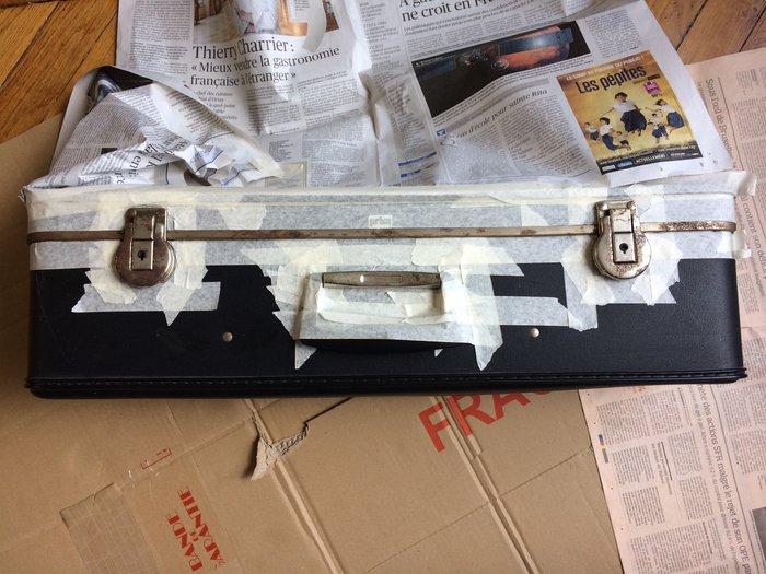 Transformer une valise en jardinière retro-Préparer la zone à peindre
