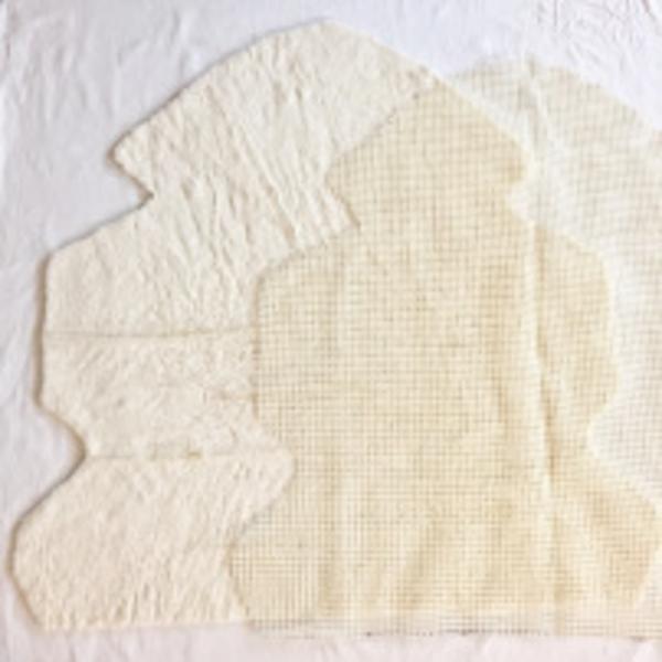 Une peau de mouton toute douce-Découpe des tissus