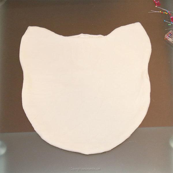 Un coussin chat kawaii tout doux-Coudre la tête du chat