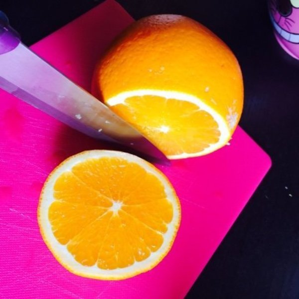 Bougies en oranges-Préparation des oranges