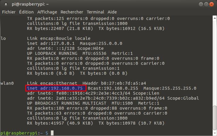 Terrarium 2.0 Raspberry pi-Changement du mot de passe et activation du wifi