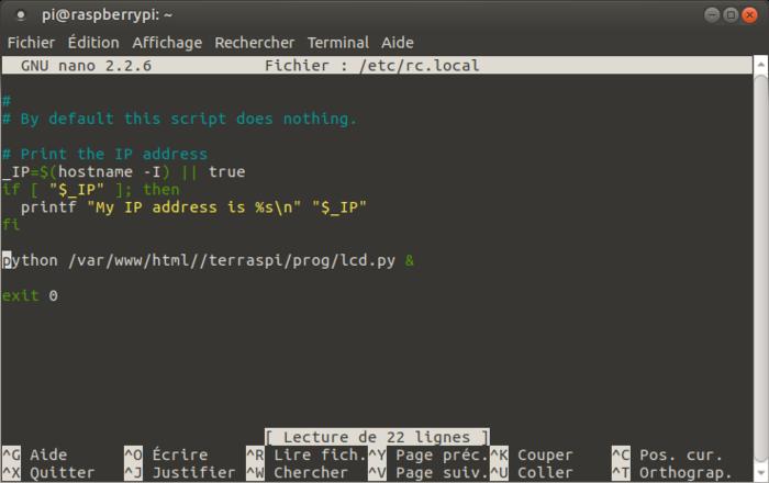 Terrarium 2.0 Raspberry pi-Automatisation des programmes