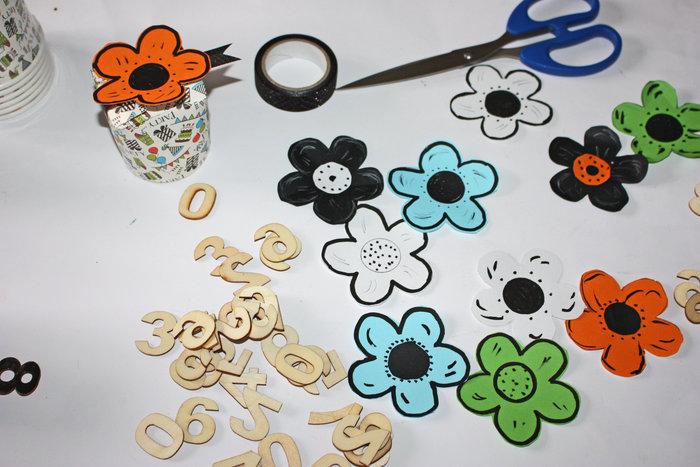 Calendrier de l' avent-Fabriquer les fleurs