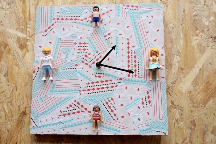 Créer une horloge avec des jouets recyclés-Mise en forme