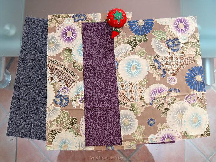 Coudre une pochette en tissu japonais-Coudre et assembler les coupons de tissus