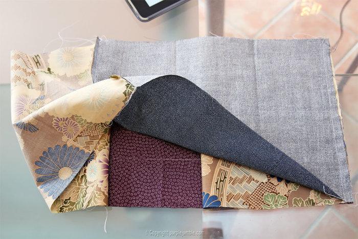Coudre une pochette en tissu japonais-Plier les pochettes