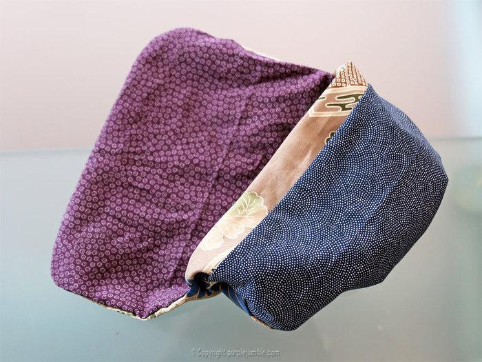 Coudre une pochette en tissu japonais-Retourner et finaliser la pochette
