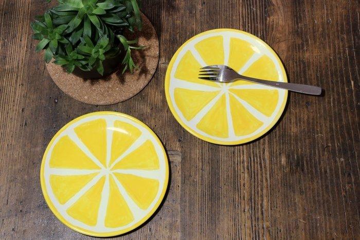 Assiettes citronnées-Taadaaam