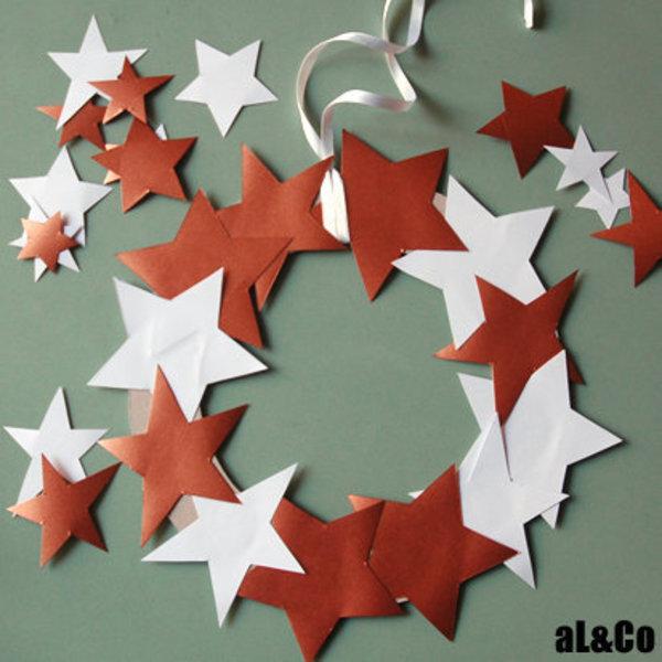 la couronne d'étoiles cuivrées-Le montage