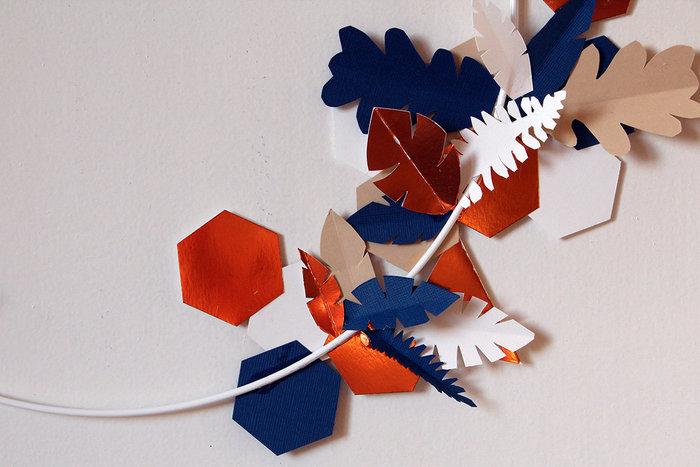 Couronne de Noël en papier cuivré-Et voilà !!