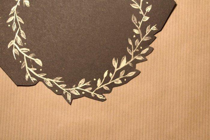 Créez une élégante carte de Noël cuivrée-Le montage de la carte