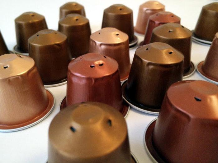 Bijoux cuivre fabriqué avec des capsules nespresso-Découpez les capsules nespresso