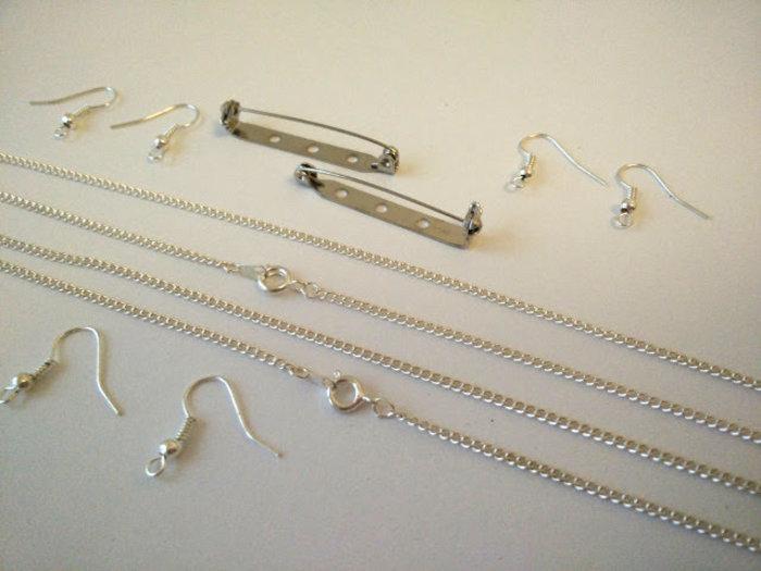 Bijoux cuivre fabriqué avec des capsules nespresso-Attachez des supports bijoux pour finir