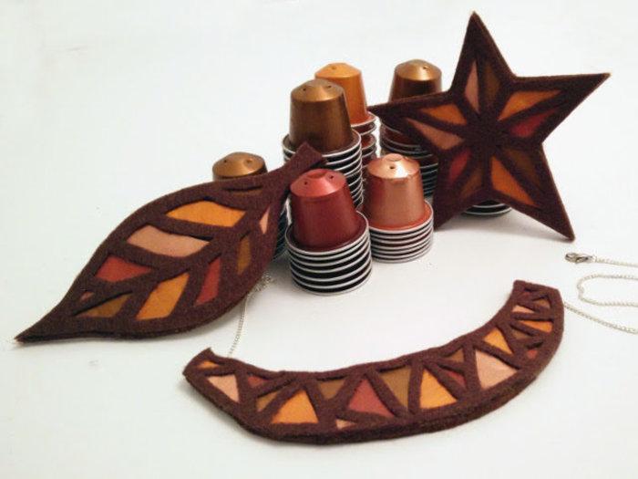Bijoux cuivre fabriqué avec des capsules nespresso-Et c'est fini !