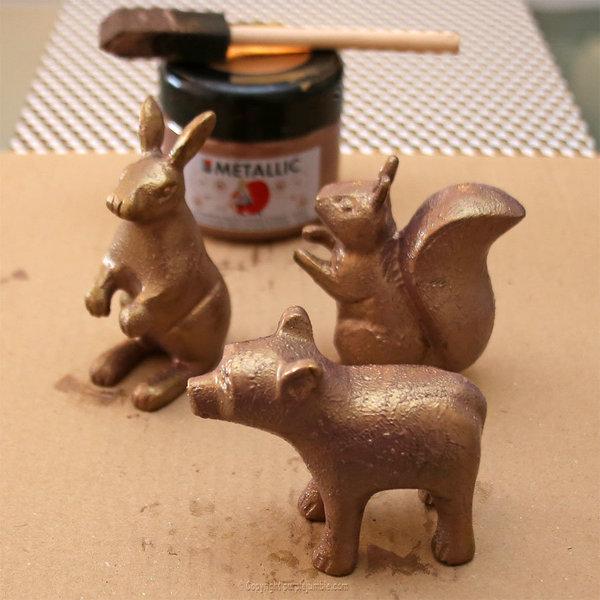 Noël cuivré et forêt enchantée-Peindre les animaux