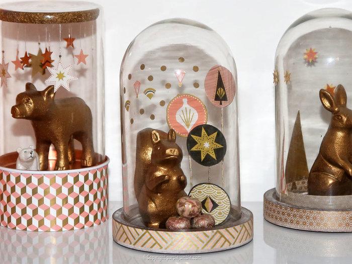 Noël cuivré et forêt enchantée-Décorer la cloche de l'écureuil