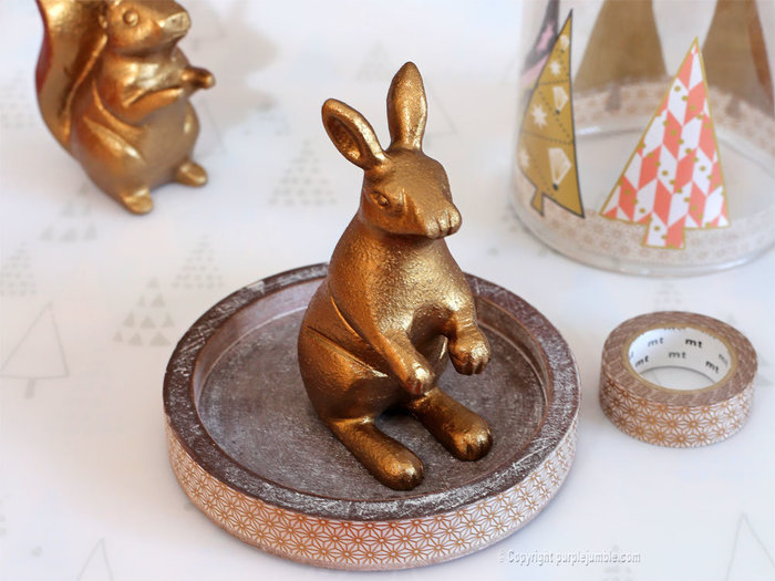 Noël cuivré et forêt enchantée-Décorer la cloche du lapin