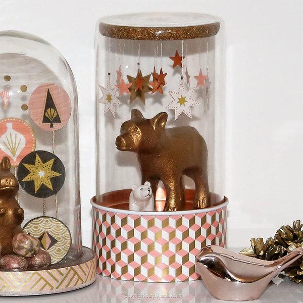 Noël cuivré et forêt enchantée-Décorer la cloche de l'ours