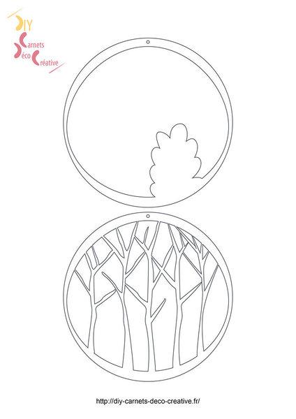 Créez votre décor de papiers découpés-Imprimez vos motifs de Noël :