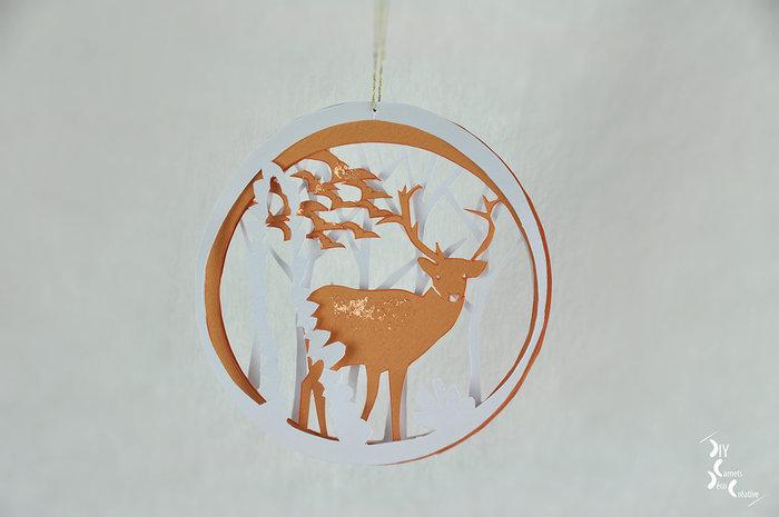 Créez votre décor de papiers découpés-Décorez votre sapin de Noël :