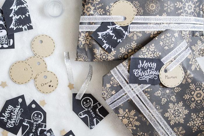 Printable de Noël : les étiquettes cadeaux ardoises ! -Téléchargez, imprimez & découpez !