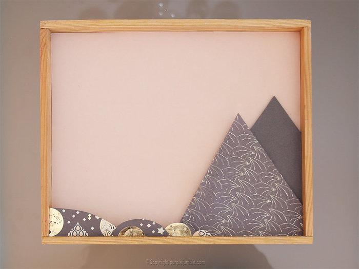 Un cadre féerique en papier-Préparer le décor en papier