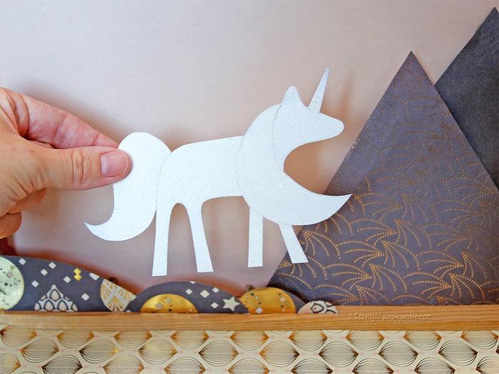 Un cadre féerique en papier-Fabriquer la licorne