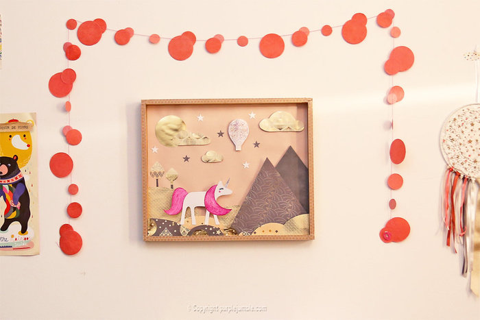 Un cadre féerique en papier-Finaliser le décor